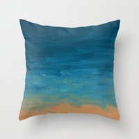 Pre-Dawn Moonrise, painting Throw Pillow
