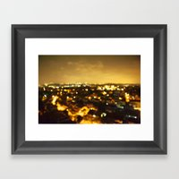 But If The Bright Lights… Framed Art Print