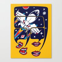 Let's talk about spaceships Canvas Print
