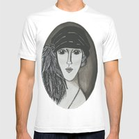 Bright Eyed Girl Mens Fitted Tee White SMALL