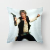 Han With Gun Pixels Text… Throw Pillow