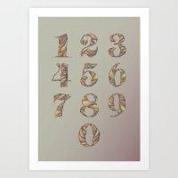 Illustrated Numbers Art Print