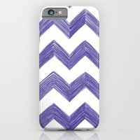 iPhone & iPod Case featuring Classic Chevrons in Blue-Purple by One Curious Chip