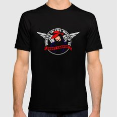 Where in the World is Peggy Carter? Mens Fitted Tee SMALL Black