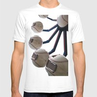 Baseball Ferris Wheel Mens Fitted Tee White SMALL