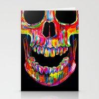 skull Stationery Cards featuring Chromatic Skull by John Filipe