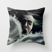 Man Overboard Throw Pillow