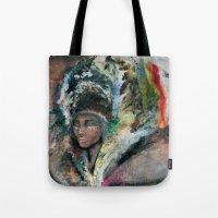 Warrior Portrait Tote Bag