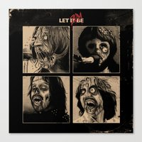 Let It (Zom)Be Canvas Print
