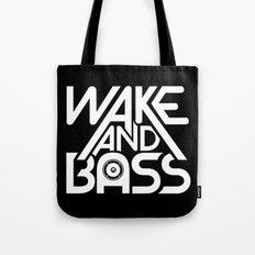 Wake And Bass (White) Tote Bag