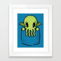 Pocket Cthulhu Framed Art Print