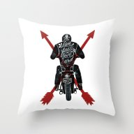 Live Fast, Love Hard Throw Pillow