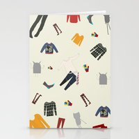 Clothes and monsters Stationery Cards