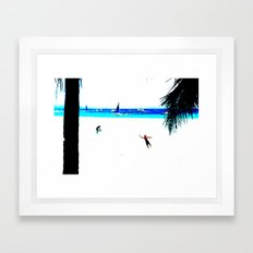 Borocay Beach Dive - Happy Place Framed Art Print