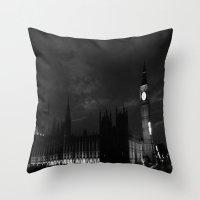 B&W Big Ben  Throw Pillow