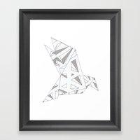 Diamond Bird Framed Art Print