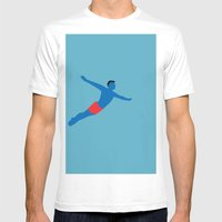 Flying man Mens Fitted Tee White SMALL