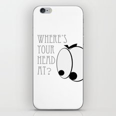 Where's your head at? iPhone & iPod Skin