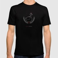 Hungarian Embroidery no.3 Mens Fitted Tee Black SMALL