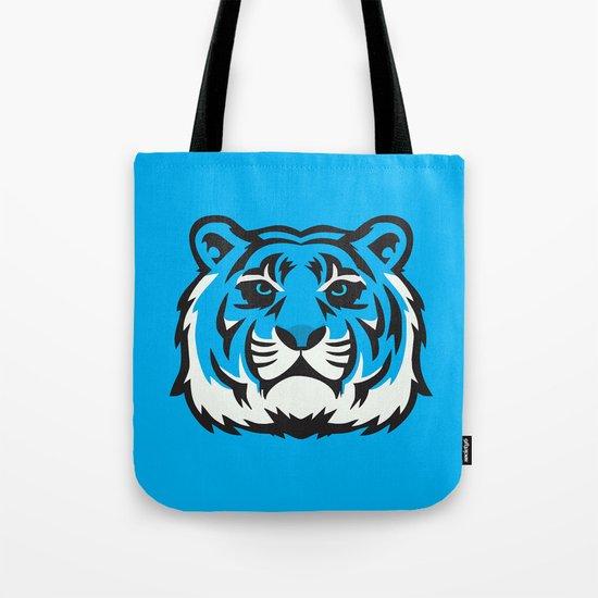Blue Tiger Tote Bag