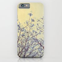 iPhone & iPod Case featuring Dogwood Tree in Flower -- Duotone Indigo and Burnished Bronze with Antique Edges by V. Sanderson / Chickens in the Trees