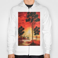 African sunset Hoody