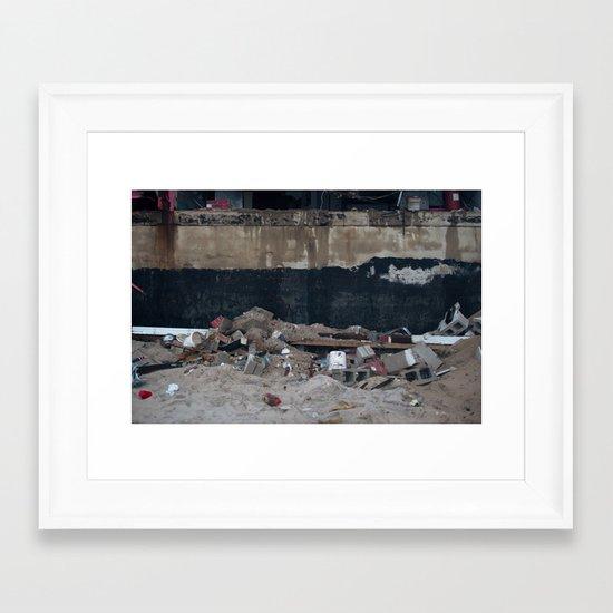 Under the Boardwalk, After Sandy Framed Art Print