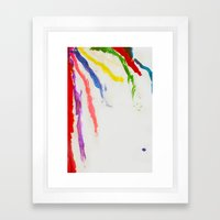 Rainbow of color Framed Art Print