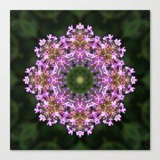 Constellation of Verbena flowers mandala Canvas Print