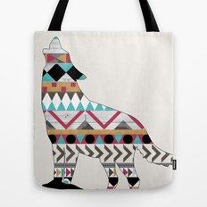 Wild Soul - Aztec Navajo Wolf Tote Bag
