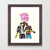 Kids Of Love And Hate Framed Art Print