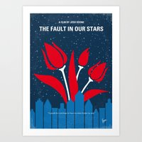 No340 My The Fault in Our Stars minimal movie poster Art Print