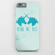 Ride or Die x Unicorns x Turquoise Slim Case iPhone 6s