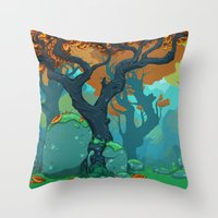 End of Fall Throw Pillow