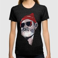 Team Zissou Womens Fitted Tee Tri-Black LARGE