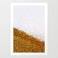 My Favorite Color II (NOT REAL GLITTER) Art Print