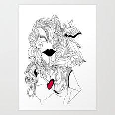 Heart of a Woman Art Print