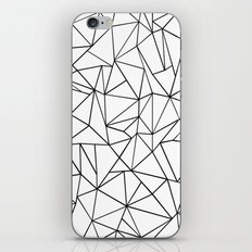 Abstract Outline Black on White iPhone & iPod Skin