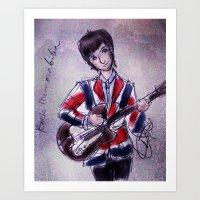 Pete Townshend -Mod era Art Print