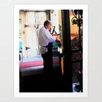 New Orleans Waiter Art Print