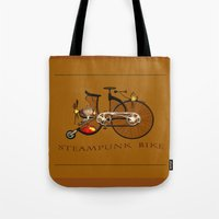 Steampunk Bike Tote Bag