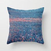 Pink Lawn Throw Pillow