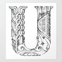U Letter Art Print