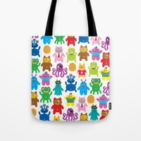 Monsters and Aliens Tote Bag