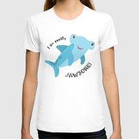 shark T-shirts featuring Shark by Michelle McCammon