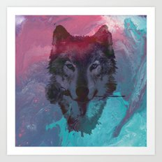 the wolf 7 Art Print