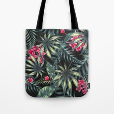 Tropical Leave Pattern 9… Tote Bag