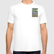 The fishing boat White SMALL Mens Fitted Tee