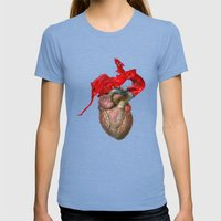 Broken Heart - Fig. 1 Womens Fitted Tee Tri-Blue SMALL