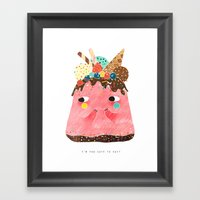 Ice Cream Cake: Too Cute… Framed Art Print